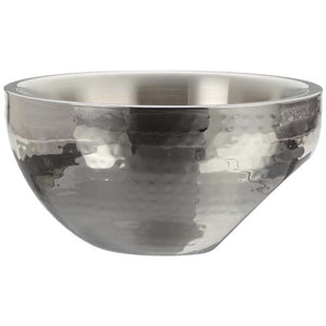 "10"" Stainless Steel Dual Angle Doublewall Serving Bowl"
