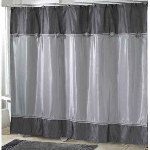 Avanti Linens Braided Medallion Granite Shower Curtain