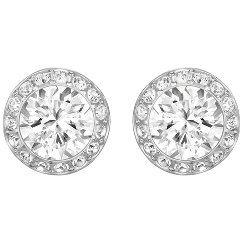 Swarovski Angelic Rhodium Plated White Pierced Earrings