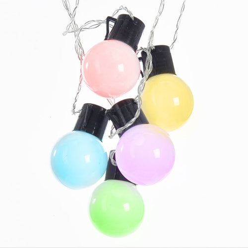 Kurt Adler Old Time Party Pastel Multi-Colored Led Light Set