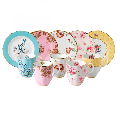 Royal Albert 100 Years 1950-1990 10-Piece Set