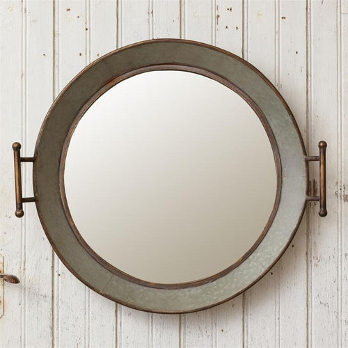 Your Heart's Delight Wall Mirror - Galvanized Wash Tub