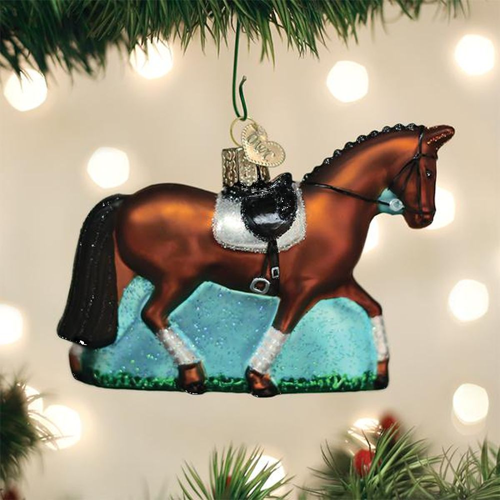 Old World Christmas Dressage Horse Ornament