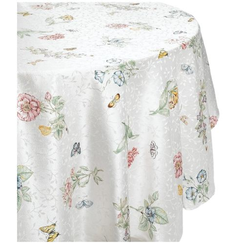 Lenox Butterfly Meadow Jacquard Damask Round Tablecloth