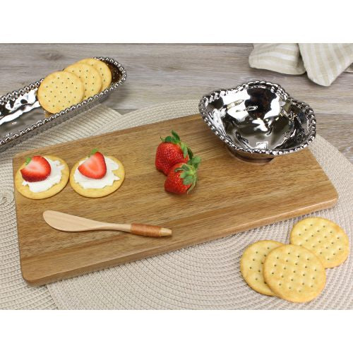 Pampa Bay Let's Entertain Hostess Wood Board Set-3Pc.