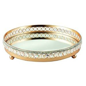Leeber Rose Gold Vanity Tray, 11""