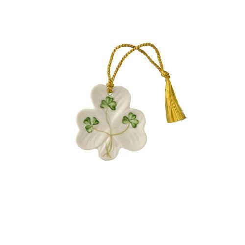 Belleek Shamrock Shaped Ornament