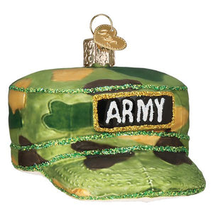 Old World Christmas Army Cap Ornament