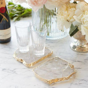 Anna New York Kivita Coasters: Crystal Gold Set of 2