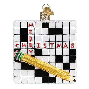 Old World Christmas Crossward Puzzle Ornament