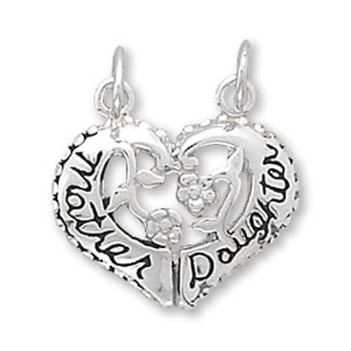 MMA Heart Shaped Mother/Daughter Break-Away Charm