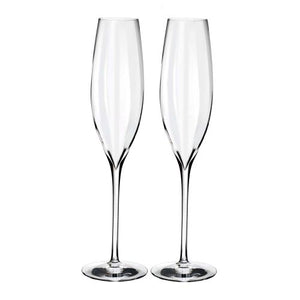 Waterford Elegance Optic Classic Champagne Flute Set of 2