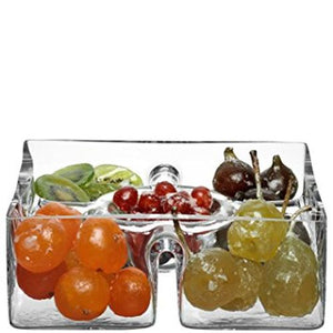 LSA International Serve Square Platter 9In/H3.25In Clear