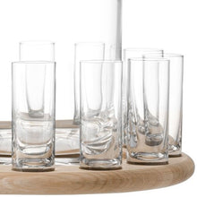 Load image into Gallery viewer, LSA International Paddle Shot Serving Set & Oak Paddle Clear