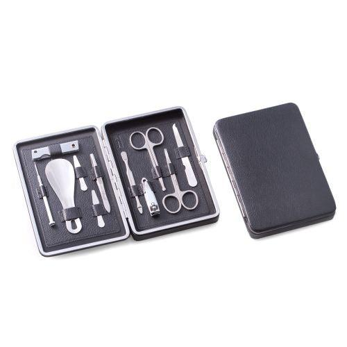 Bey Berk 10 Pieces Manicure Set In Black Leather Case