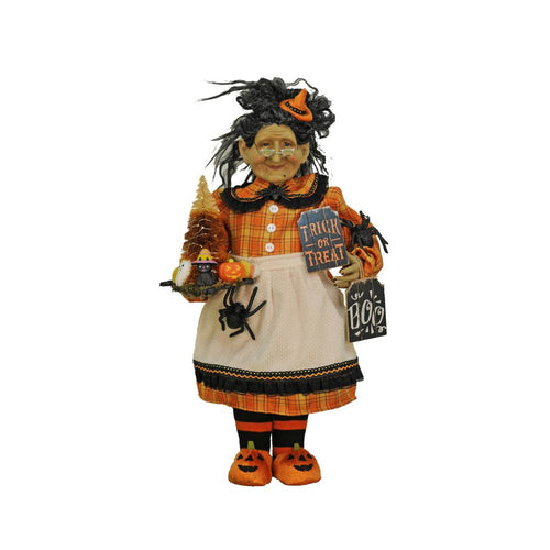 Karen Didion Lighted Trick or Treat Witch Figurine