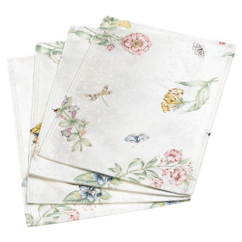 Lenox Butterfly Meadow Jacquard Damask S/4 Placemats