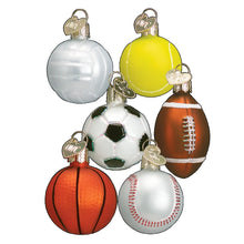Load image into Gallery viewer, Old World Christmas 6 Assorted Mini Sport Balls Ornament