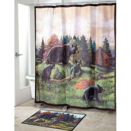 Avanti Linens Black Bear Lodge Shower Curtain