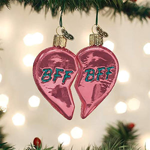 Old World Christmas Bff Hearts Ornament