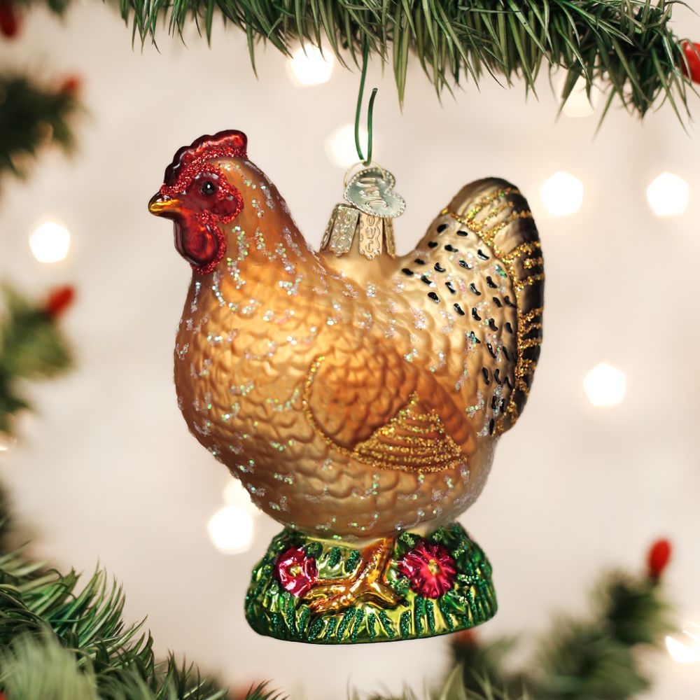 Old World Christmas Spring Chicken Ornament