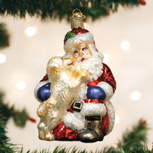 Load image into Gallery viewer, Old World Christmas Ornament Santa's Puppy Love