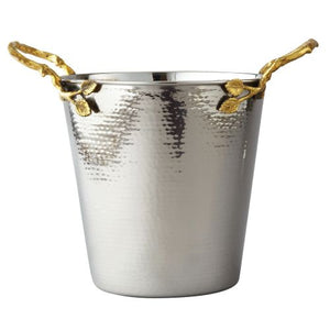 Leeber Golden Vine Hammered Wine Bucket, 11.5""
