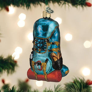 Old World Christmas Hiking Backpack Ornament