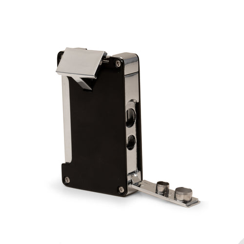 Torch Lighter w/ Punch Cutter In A Gunmetal & Anodized Case