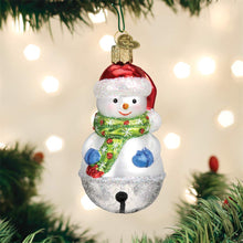 Load image into Gallery viewer, Old World Christmas Jingle Bell Snowman Ornament