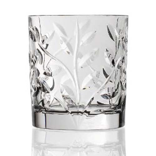 Rcr Laurus Crystal Double Old Fashioned Set Of 6