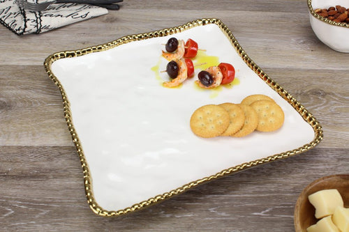 Pampa Bay Porcelain Square Serving Platter
