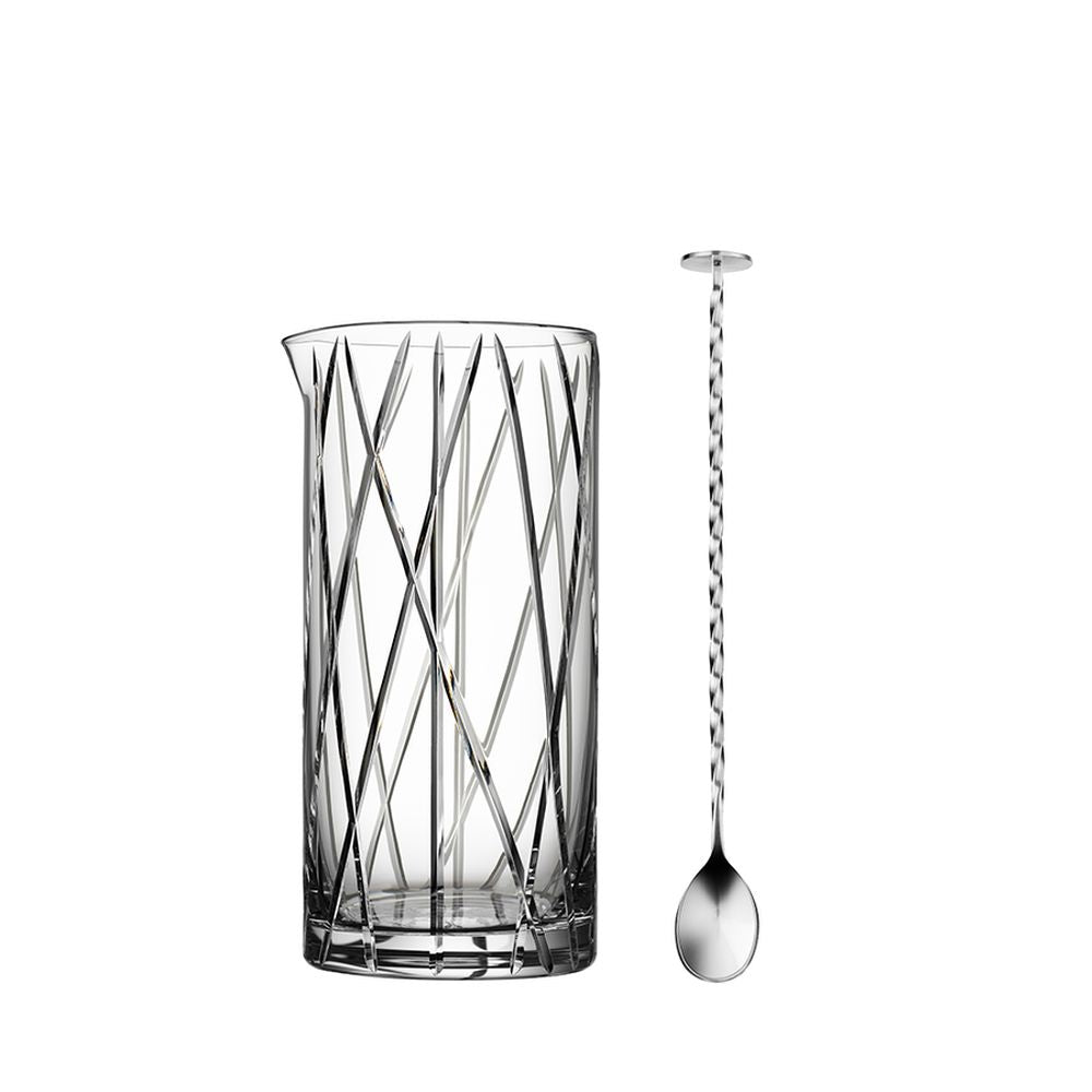 Orrefors City Mixing Glass including Bar Spoon
