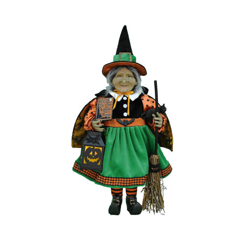 Karen Didion Lighted Pumplin Glow Witch Figurine