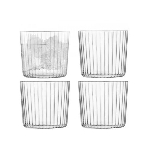 LSA International Gio Tumbler 10.5 fl oz Line Set of 4