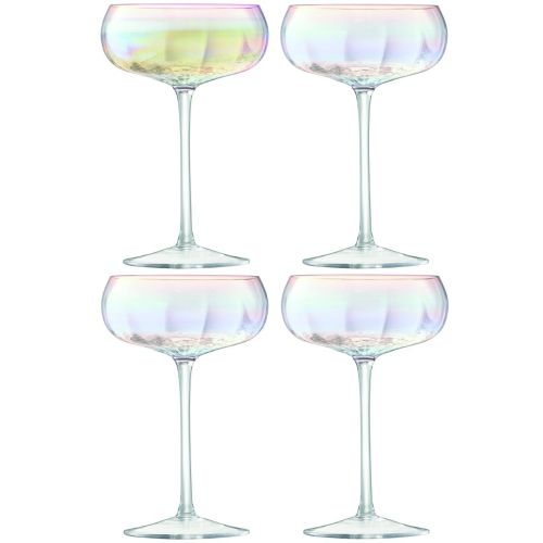 LSA International Pearl Champagne Saucer Set Of 4