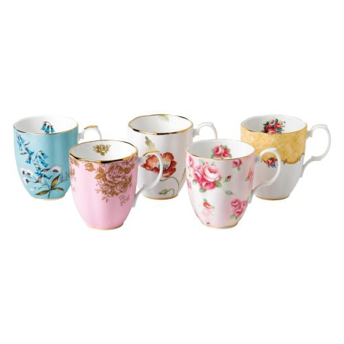 Royal Albert 100 Years 1950-1990 5-Piece Mug Set 14.1 oz