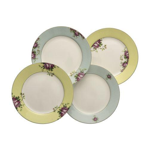 Aynsley Archive Rose Plates (Set of 4)