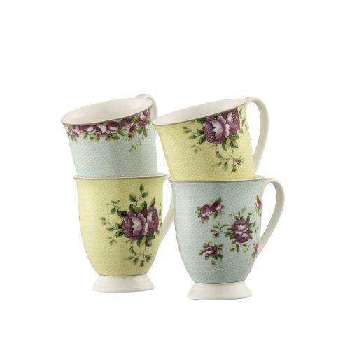 Aynsley Archive Rose 4 Mugs Set