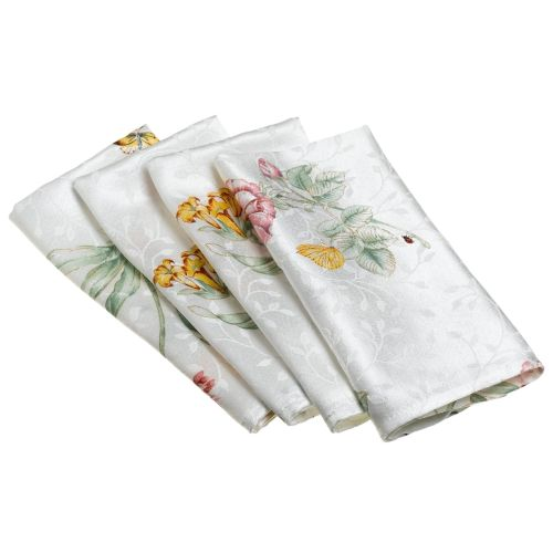 Lenox Butterfly Meadow Jacquard Damask S/4 Napkins