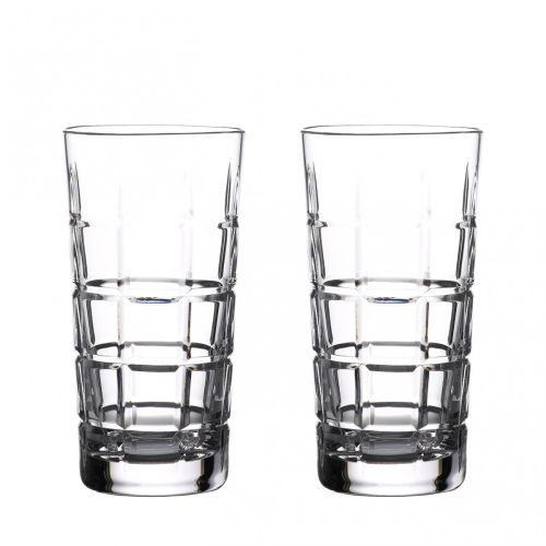 Waterford Crystal Gin Journeys Cluin Hiball 16 Oz Set of 2