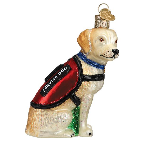 Old World Christmas Service Dog Ornament