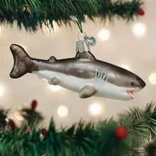 Load image into Gallery viewer, Old World Christmas Great White Shark Ornament