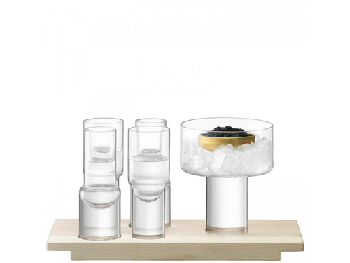 LSA International Vodka Serving Set L27cm Clear/Ash