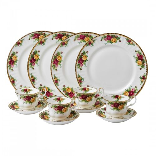 Royal Albert Old Country Roses 12-Piece Set, Service For 4