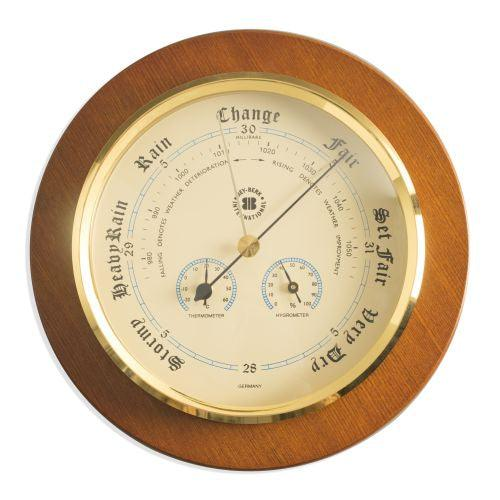 Barometer With Thermometer & Hygrometer On 9
