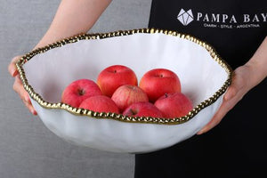 Pampa Bay Golden Salerno Oversized Serving Bowl