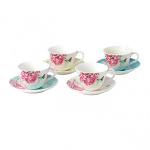 Royal Albert Everyday Friendship Teacup & Saucer Set of 4