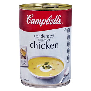 Campbells condensed cream of chicken soup 420g