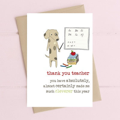 Greeting Card, Teacher Much Cleverer